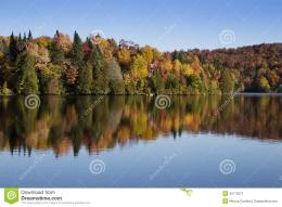 Spectacular, colorful fall landscape in Mont Tremblant national park 1209