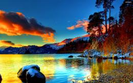 Colorful reflections by the lake wallpaper #2765 815