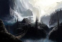 Fantasy Mountain Art Wallpaper Cool HD 1583