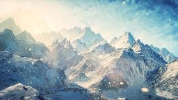 Mountains Landscape Snow Sunlight C G winter wallpaper | 1920x1080 1200