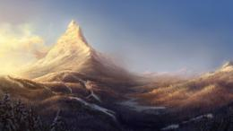 Fantasy Mountain Art Wallpaper 2014 Hd 880