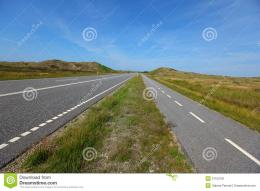 Straight, Flat Road Landscape With A Bicycle Lane Stock ImageImage 1480