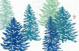 MAGPRINT Original Prints: Winter Firs 1780