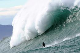 Giant waves lure surfers to France | SBS News 1142