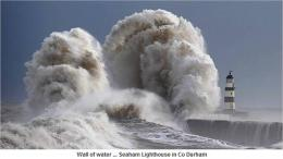 the power of destructive waves a giant wave whipped up by 80mph winds 1118
