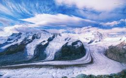Glacier Cutting Through A Snow Mountain Wallpaper HdFree Android 807