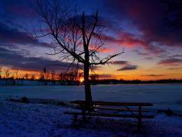 Blue Red Purple Golden Sunset with Ice Snow Reflection 8Jacobson 729