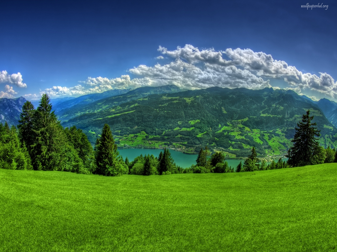 View Green Mountain Scenery on Top wallpaper | Download Green Mountain 1618
