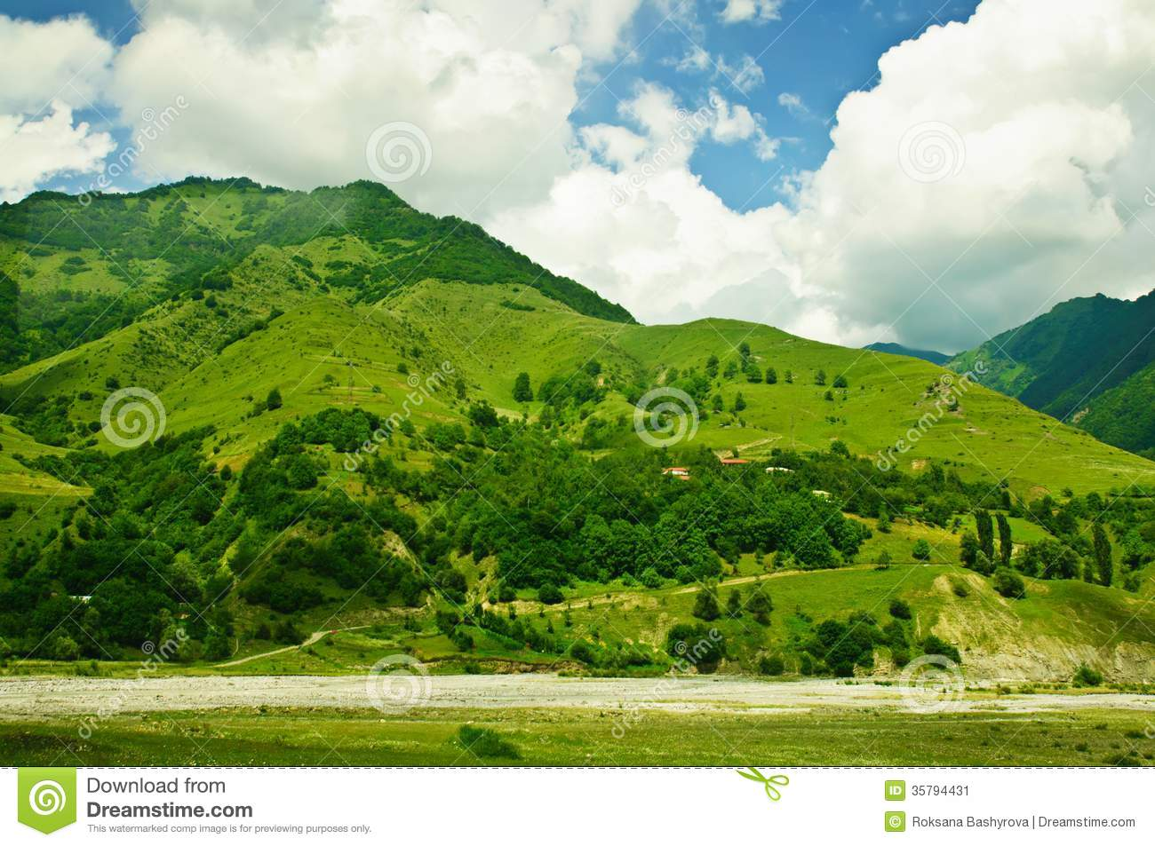 Green Mountains Stock ImageImage: 35794431 1704