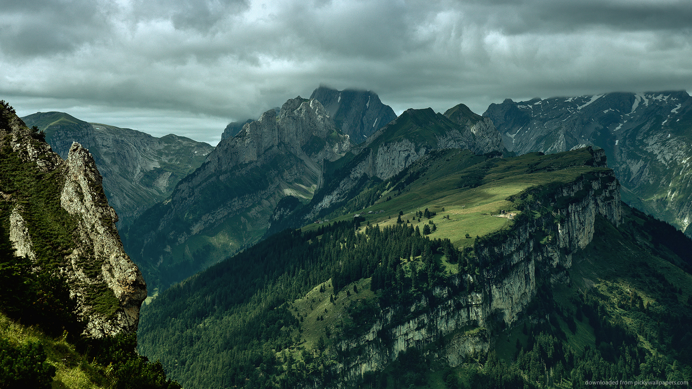 Green Mountains for 1366x768 1858