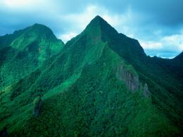 Tahiti Green Mountains wallpaper 1920x1440 jpg 577