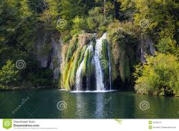Green Waterfall Royalty Free Stock PhotographyImage: 24565127 1013