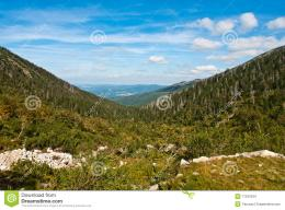 Mountain Landscape With Two Hills And Valley Stock ImagesImage 1614