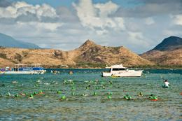 The Daily News of Open Water Swimming: Nevis to St Kitts Cross Channel 1067