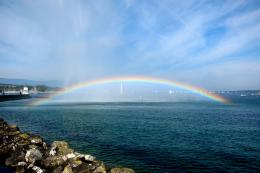 photo of the day] Rainbow over Lake Geneva, Geneva, Switzerland 1030