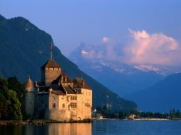 Castle Lake Geneva Switzerland 2 picture, Chillon Castle Lake Geneva 1223