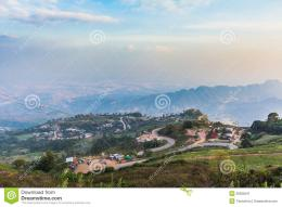 Landscape With Mountain Road,Thailand Stock ImageImage: 36006541 1256