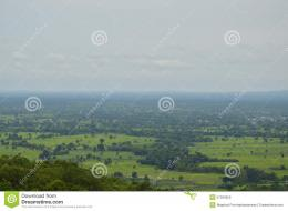 Landscape of Thailand upcountry from mountain 582