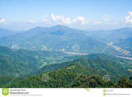 Landscape view of Thailand and Laos which there is Mekong river forms 1326