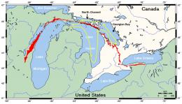 The path of the R V Sturgeon through Lake Huron's three basins 964