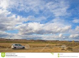 Car In The Lonely Road Royalty Free Stock PhotographyImage: 4752477 630