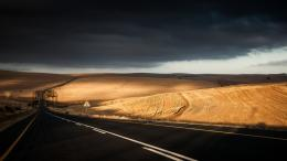 Road Sky Lonely Desert Under Cloudy1366x768 iWallHDWallpaper HD 1368