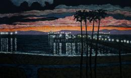 john allen hammer: long beach pier @ sunset 1327