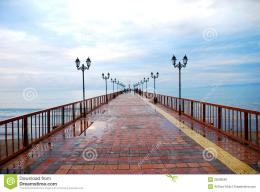 Long Pier Stock PhotographyImage: 35008582 1288