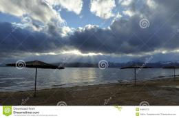 Picture of a Lake Prespa, Macedonia in winter 158