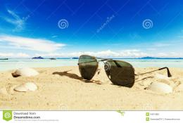 Sunglasses On The Beach Sunglasses at the beach with 1015