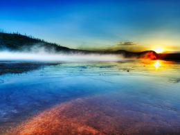 Sunrise Yellowstone wallpaper 1272