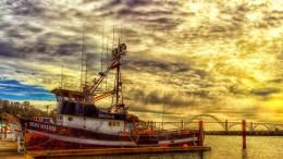 Tug Boat Docked In Harbor Beautiful Sunset hd wallpaper #1538258 1420