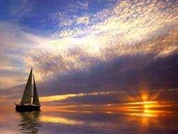 Sunset Sailing Beautiful Sunset and Sailboat 1218