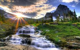 Small waterfall in the morning wallpaper #1174 289