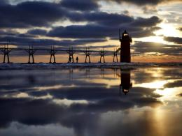 Download South Haven Lighthouse wallpaper in Nature wallpapers with 1816