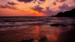 Magnificent Ocean Sunset Beach Sea Rocks hd wallpaper #1645725 1381