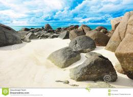 big rocks seashore beautiful sand beach lipe island thailand 37155335 1502