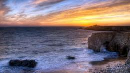 Magnificent seascape hdr arch rocks beach 1600x900 1983