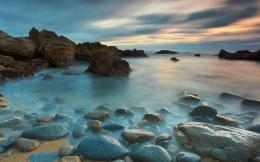 Beautiful ocean rugged nature skies rocks HD Wallpaper 1429