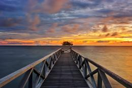 landscape pier beach sunset sky dock destopjpg 997