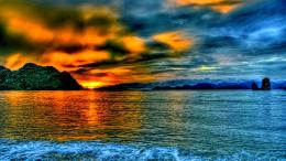 Magnificent Sunrise Hdr Mountain Sea Clouds hd wallpaper #1684738 1742