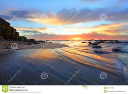 Magnificent Sunrise Morning At The Beach Australia Stock PhotoImage 159