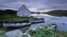 lake house in connemara county ireland wallpaper 1534