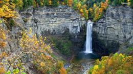 Amazing waterfall surrounded by cliffs wallpaper1150778 1084