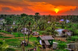wpid19781 Sunset Over Small Village in Battambang Cambodia jpg 973