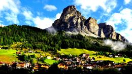 Gorgeous alpine town hdr meadow mountain:High Contrast 1877