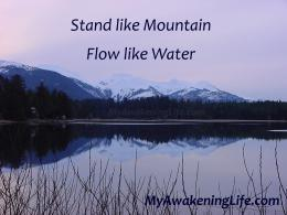 Stand like Mountain … Flow like Water | My Awakening Life 1255