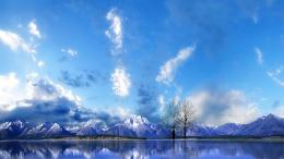 Mountains Reflection On Peaceful Lake Wallpaper HdFree Android 1869