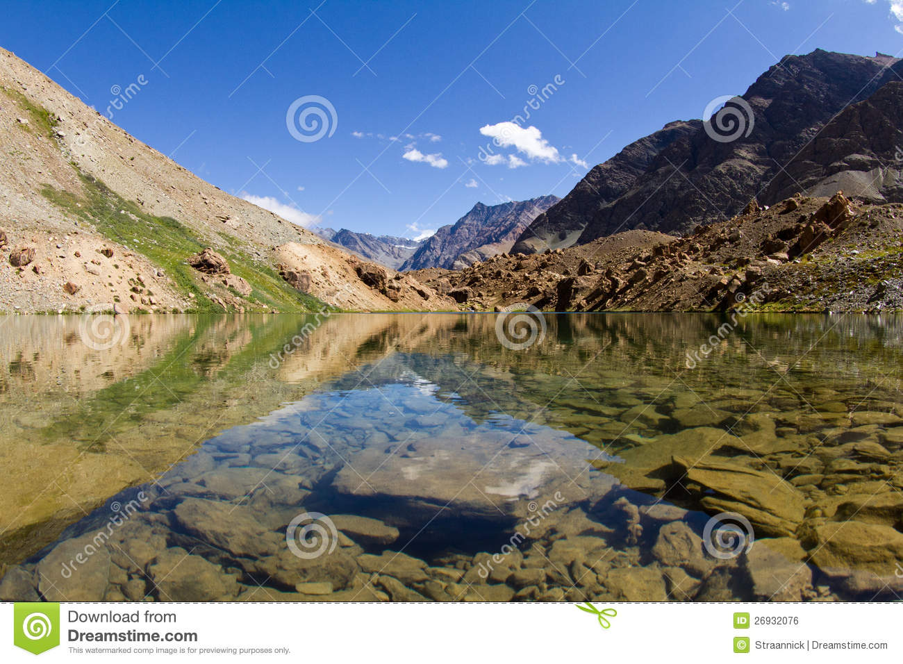 Mountain Lake With Reflections In Water Royalty Free Stock Image 1952
