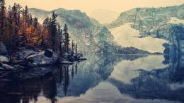 Download Mountains reflection on peaceful lake High quality wallpaper 432